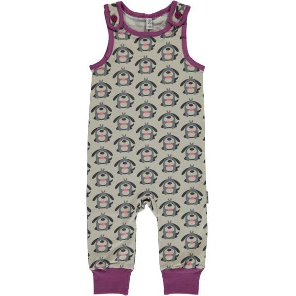 59bfee10ec Maxomorra Dog print Organic Cotton Playsuit - Catfish Kids