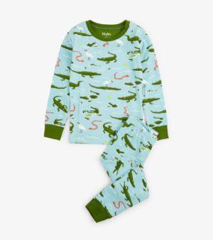 5eb490f949 Hatley Aqua Swamp Gators Organic Cotton Pyjamas