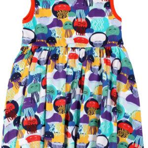 Duns of Sweden Purple Jellyfish Print Dress