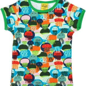 Duns of Sweden Green Jellyfish ADULT Short Sleeve Top
