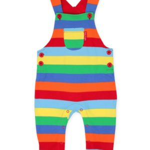 Toby Tiger Multi Stripe Jersey Dungarees