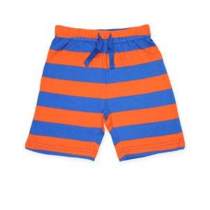 Toby Tiger Orange and Blue Stripe Shorts