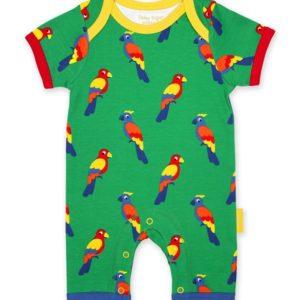 Toby Tiger Parrot Print Short Romper