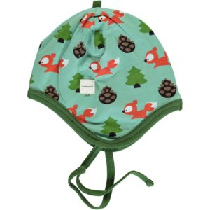 AW19 Maxomorra Busy Squirrel Velour Helmet Hat
