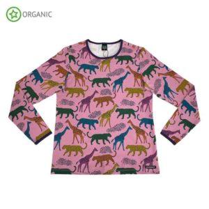 Villervalla Pink Sorbet Savannah Print Long Sleeve Top