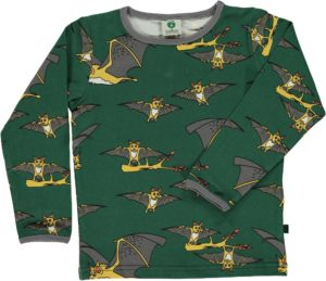 AW19 Smafolk Hunter Green Bats Top
