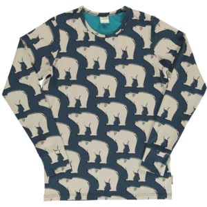 Aw19 Maxomorra Polar Bear ADULT Long Sleeve Top