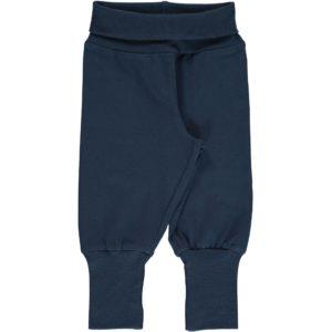 Aw19 Maxomorra Solid Midnight Rib Pants