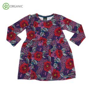 AW19 Villervalla Purple Flower Gathered Dress