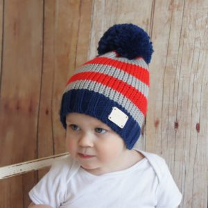 Blade and Rose Blue and Grey Bobble Hat
